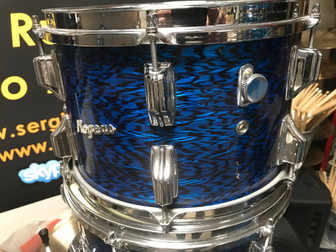 Rogers blue onyx vintage drum set 4 pc
