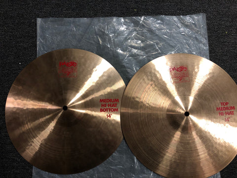 "Paiste 2002 Medium Hi-Hats - 14"" - 981/818 grams - Demo"