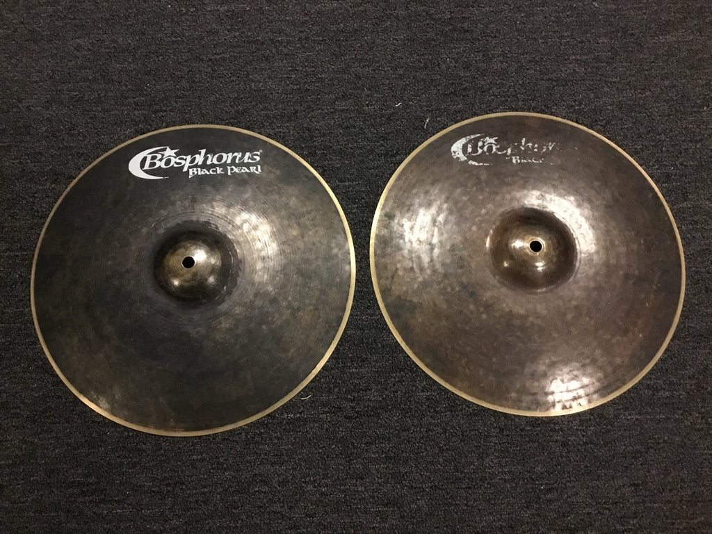 "Used 14"" Bosphorus Black Pearl Hihats CYMBAL"