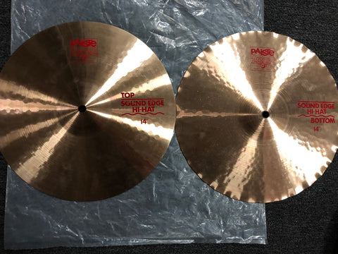 "Paiste 2002 Sound Edge Hi-Hats - 14"" - 1058/945 grams - New"