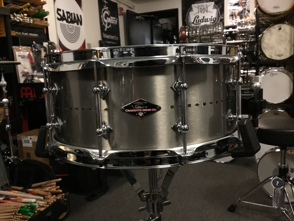 Used MINT Craviotto Solitiare Series Snare Drum 14x5.5 Made in USA