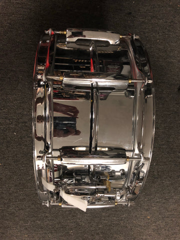 Pearl Sensitone Custom Alloy Snare Drum - 6.5x14 - USED - Steel shell