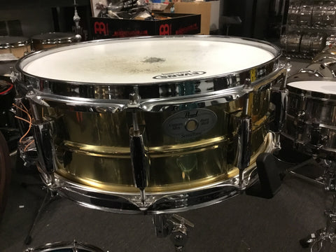 Used mint Pearl 14x5.5 Sensitone Brass Shell Snare Drum