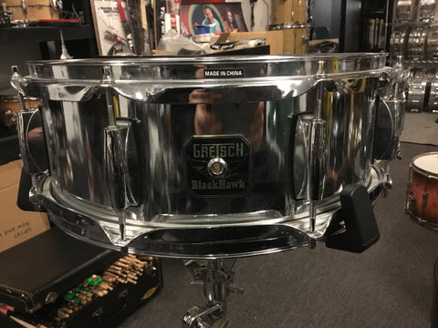 Used Gretsch BlackHawk Steel Snare Drum 14x5.5 - WITH VIDEO