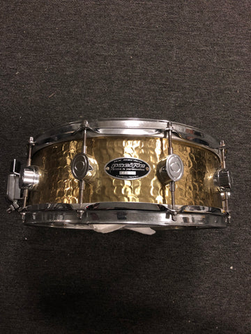 Pacific HandHammered Brass Snare Drum - 5.5x14 - USED - 44791