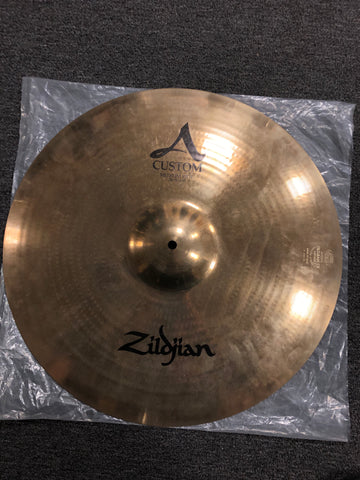 "Zildjian A Custom Medium Ride Cymbal - 20"" - 2550 grams - Used"