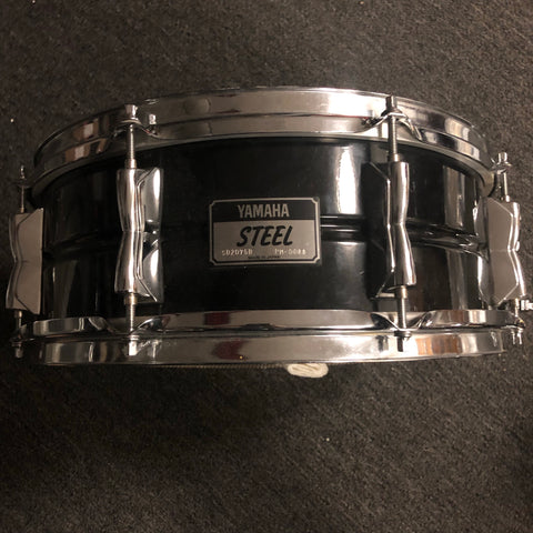 Yamaha Black Steel Snare Drum SD 2075B - 5 x 14 - Used - With Video