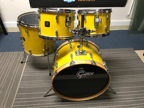 Rare GRETSCH YELLOW NITRO mint Tony Williams Drum Set