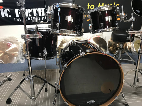 Rare PORK PIE blood sparkle Drum set