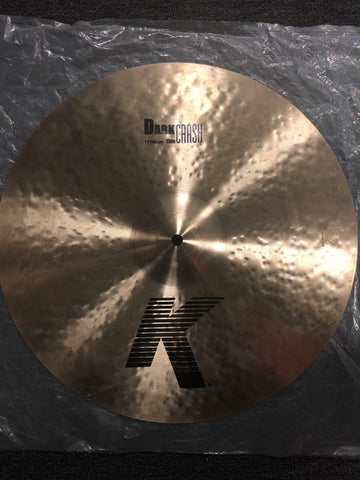 "Zildjian K Dark Crash Cymbal - 17"" - 1251 grams - New"