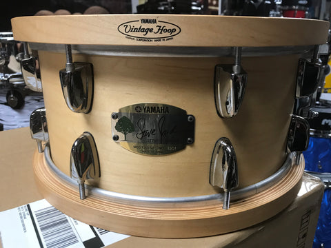 Yamaha steve Jordan Rare Snare with original wood maple hoops vintage