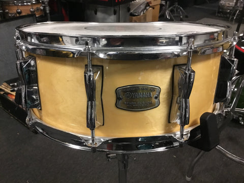 Used Yamaha Stage Custom Snare Drum 14x5.5 Natural Gloss