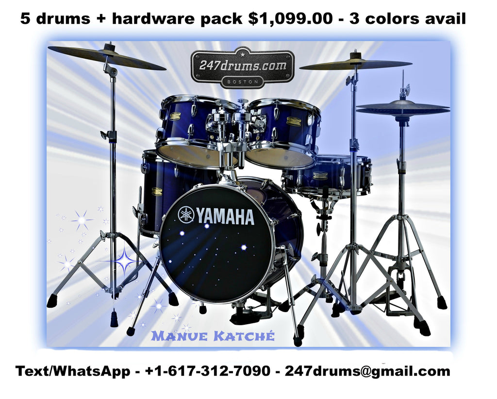 Yamaha 2019 All Birch MANU KATCHÉ Drum Set COMPLETE with Hardware Pack