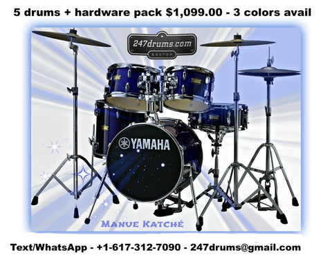 Yamaha 2017 All Birch MANU KATCHÉ Drum Set COMPLETE with Hardware Pack