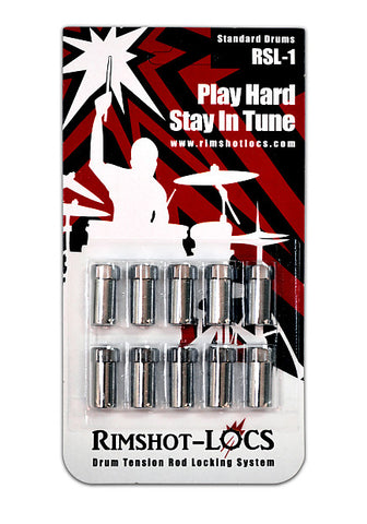 Rimshot-Locs RSL 1 (Standard Drums) PLAY HARD...STAY IN TUNE! (FREE SHIPPING WORLDWIDE)