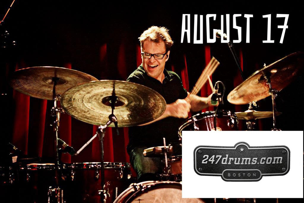 Stanton Moore at 247drums on 8/17/16 at 6:30 Pm