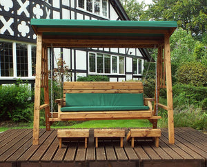 HB134G - Dorset Three Seater Swing Green