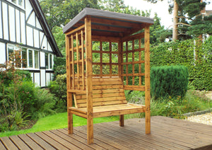 HB135GR - Bramham Two Seater Arbour Grey