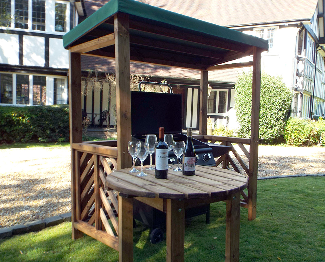 HB137G - Dorchester BBQ Shelter Green