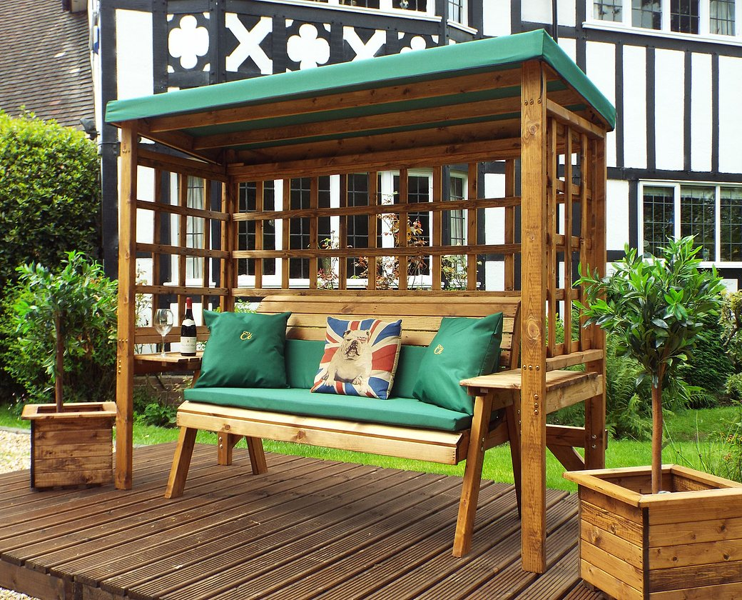 HB145G - Wentworth Three Seater Arbour Green