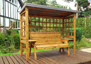 HB145GR - Wentworth Three Seater Arbour Grey
