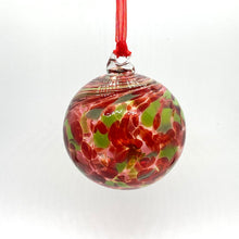 Load image into Gallery viewer, Blown Swirled Glass Christmas Balls, Medium & Small Size