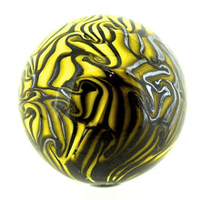 Load image into Gallery viewer, Handblown Small Damascus Marbles - BROWN/YELLOW
