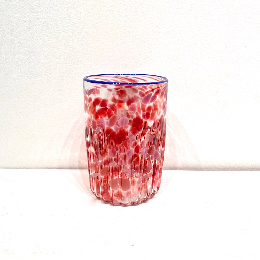 Handblown Drinking Glass Tumblers - PINK