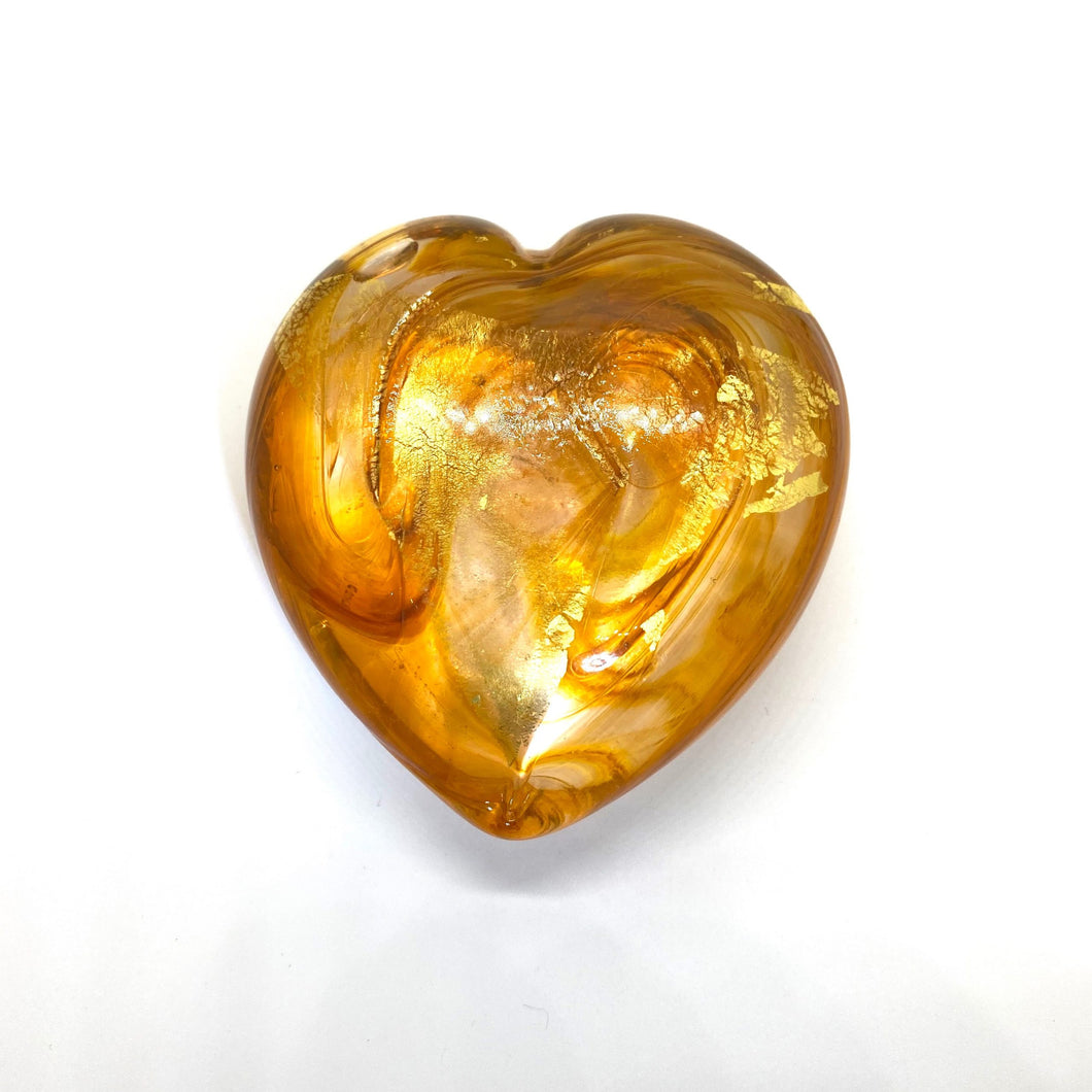 Medium Heart of Gold with 23K Italian Gold Leaf - GOLD