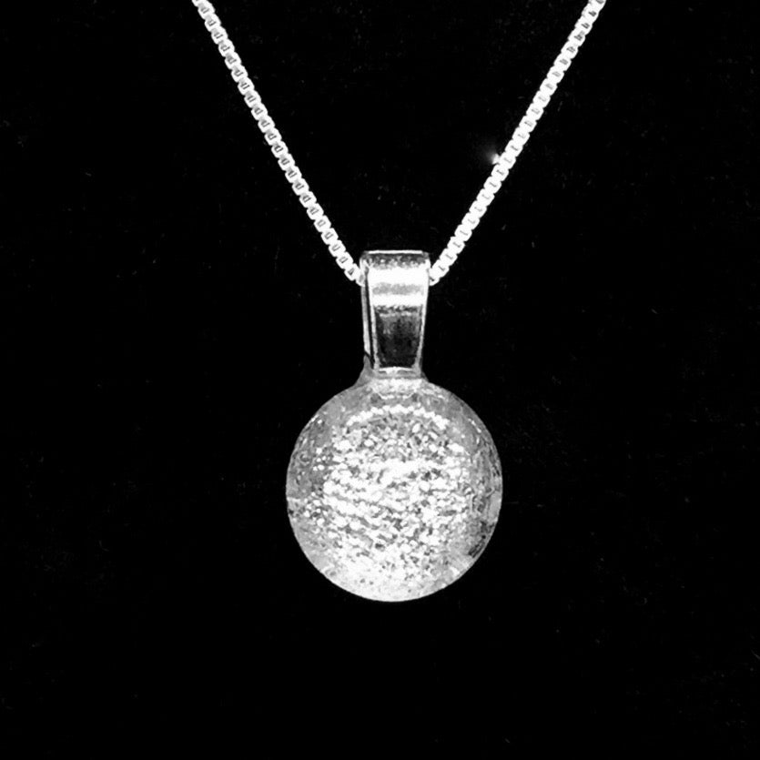 Stardust Pendant Necklaces with Sterling Silver Chain - Silver Crystal