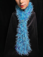 Load image into Gallery viewer, Artisan Knitted Scarf 'Aqua'