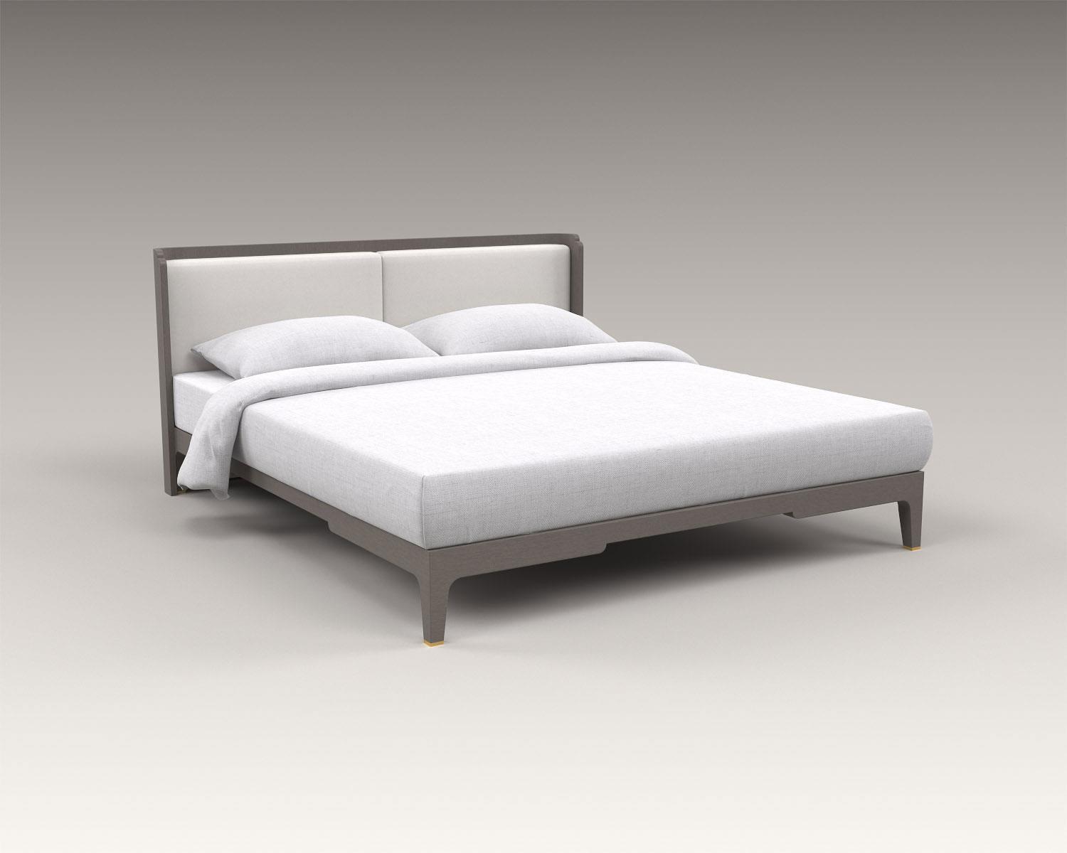 guimar bed, akar guimar, akar de nissim, leather headboard, oak bed frame, minimalist bed frame, nissim bed
