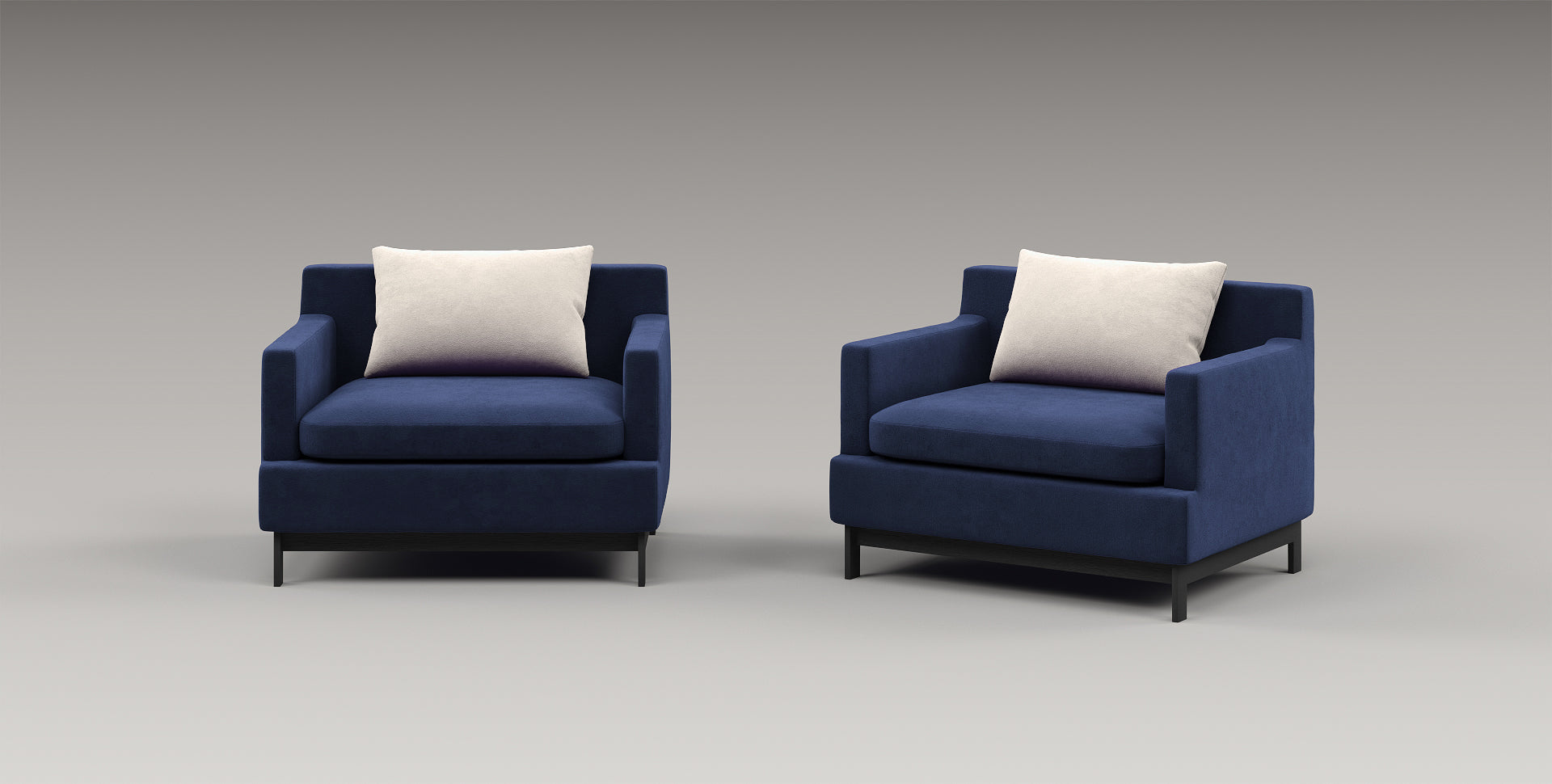 blue chair, upholstered sofa, upholstered chair, leather armchair, suede armchair, velvet armchair, minimalist design, Leonard, small sofa, comfortable armchair, comfortable lounge chair, akar de Nissim, luxury furniture, designer furniture, plush pillow, plush couch, plush sofa, navy blue armchair, big lounge chair,