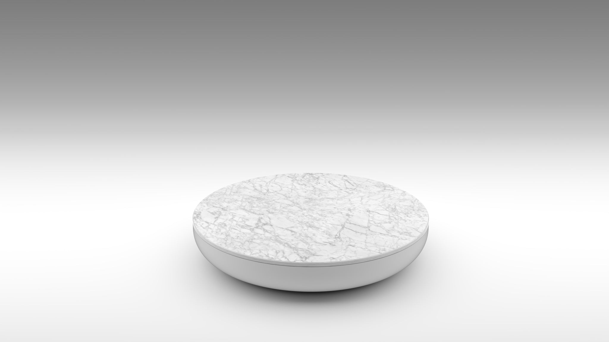white Carrara, Carrara coffee table, lacquer white coffee table, white coffee table, round marble coffee table, low table, Carrara low table, akar coffee table, half macaron coffee table,