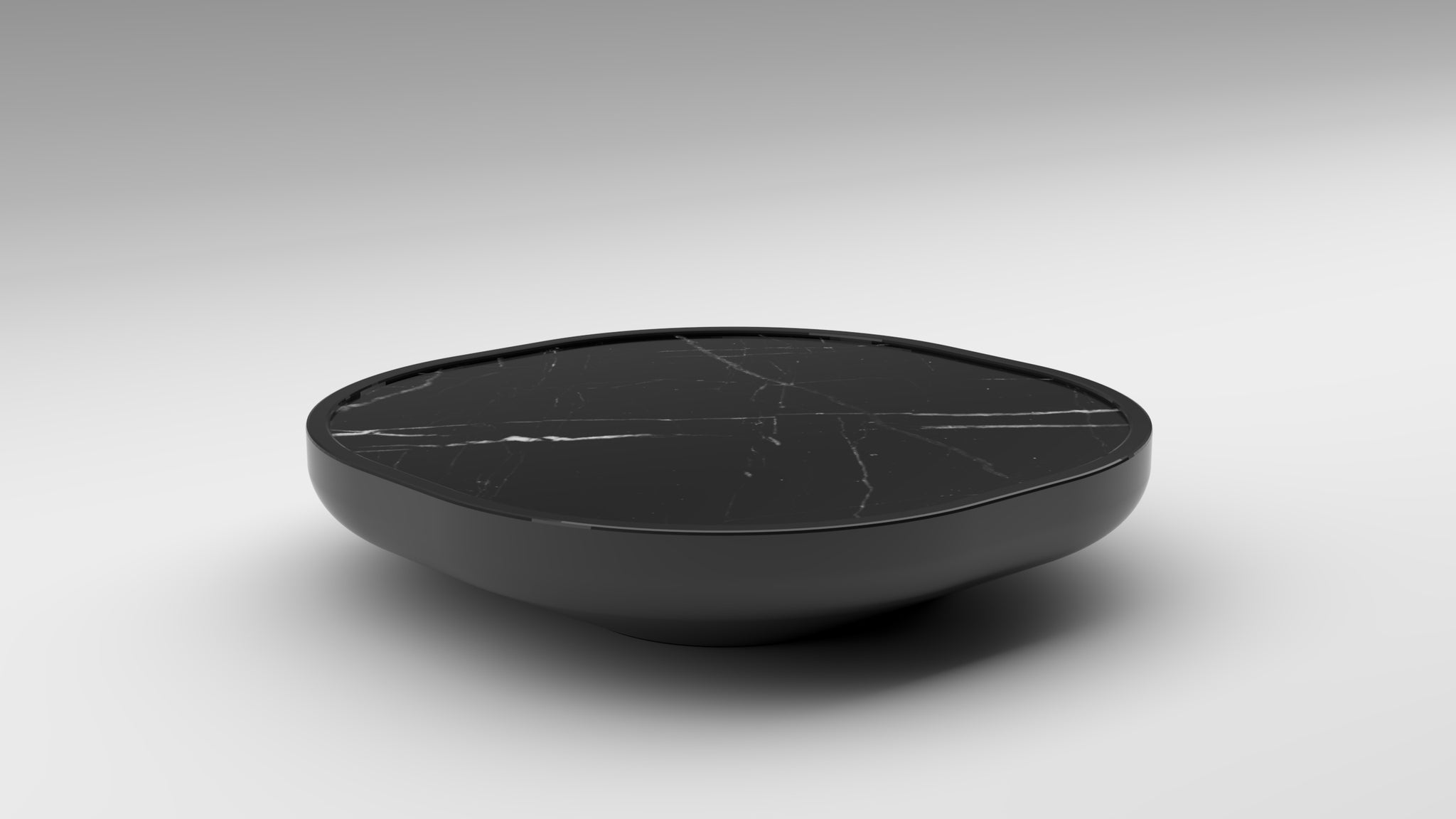 black coffee table, low coffee table, black marble, akar iris, iris mini, iris mini table, black lacquer, glossy black, black marble, akar fine lacquer, akar lacquer process
