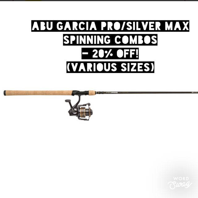 Abu Garcia Pro & Silver Max Spinning Combos - 20% OFF!