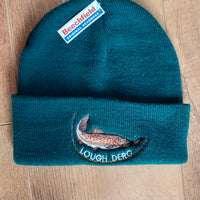 Beechfield Fishing Beanie Cap with Embroidered Lough Derg/Trout Motif