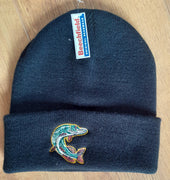 Beechfield Fishing Beanie Cap with Embroidered Pike Motif