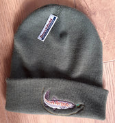 Beechfield Fishing Beanie Cap with Embroidered Trout Motif