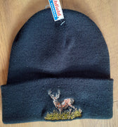 Beechfield Hunting Beanie Cap with Embroidered Stag Motif