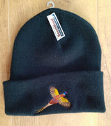 Beechfield Hunting Beanie Cap with Embroidered Flying Pheasant Motif