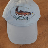 Fishing Baseball-Style Cap with Embroidered Lough Derg/Trout Motif