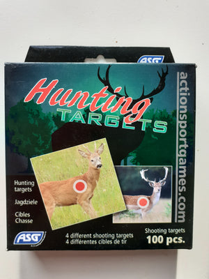 ASG Shooting Targets - 4 Animal Designs - 100 pack