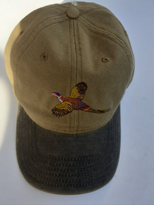 Otto Shooting Baseball Cap with Embroidered Pheasant Motif
