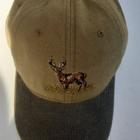 Otto Shooting Baseball Cap with Standing Stag Motif