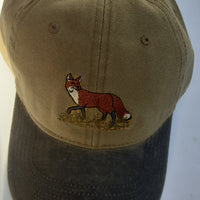 Otto Shooting Baseball Cap with Embroidered Fox Motif