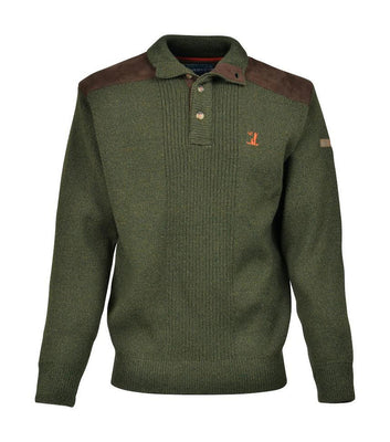 Shooting/Outdoors Percussion High Collar 4 Button Jumper OpenSeason.ie