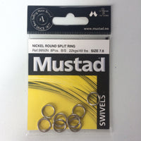 Mustad Round Nickel Split Rings