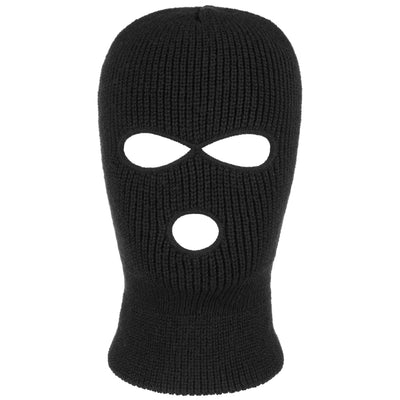 Open Season Plain Knit Balaclava - Black