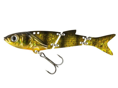 DAM Effzett Swim Blade Jointed Pike/Predator Lure - Perch Pattern